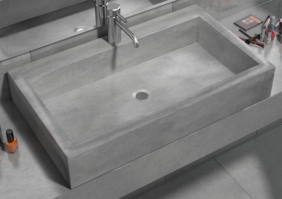 Betonowe Wyposażenie Kuchni I łazienki W Industrialnym Stylu